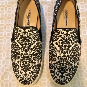 Women's Karl Lagerfeld slip on shoes, Size 7